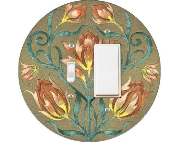 Victorian Floral Toggle and Decora Rocker Switch Plate Cover