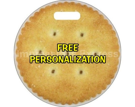 Round Cracker Personalized Luggage Bag Tag