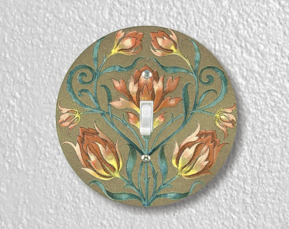 Victorian Floral Precision Laser Cut Toggle and Decora Rocker Round Light Switch Wall Plate Covers