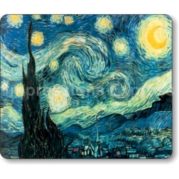Starry Night Van Gogh Painting Mousepad