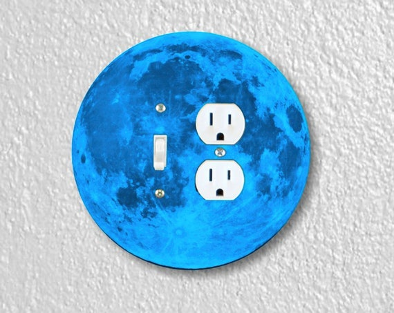 Blue Moon Precision Laser Cut Round Toggle Switch and Duplex Outlet Double Wall Plate Cover