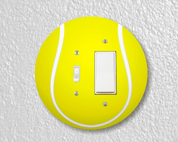 Tennis Ball Precision Laser Cut Toggle and Decora Rocker Round Light Switch Plate Cover