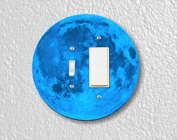 Blue Moon Precision Laser Cut Round Toggle and Decora Rocker Light Switch Wall Plate Cover