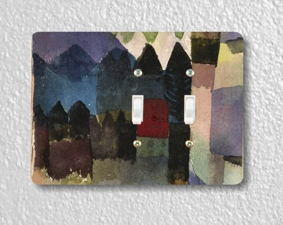 Föhn In Marc's Garden Paul Klee Painting Double Toggle Light Switch Plate Cover