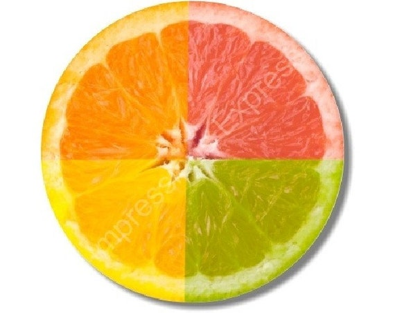 Funky Grapefruit Fruit Round Mousepad