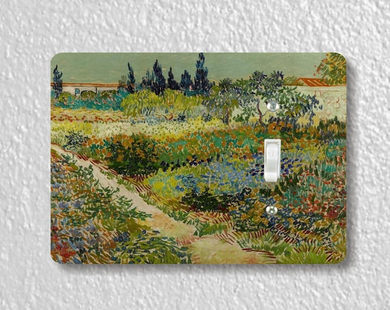 The Garden at Arles Van Gogh Art Painting Precision Laser Cut Toggle and Decora Rocker Light Switch Wall Plate Covers