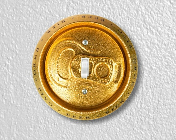 Beer Can Precision Laser Cut Toggle and Decora Rocker Round Light Switch Wall Plate Covers
