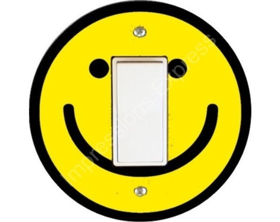Smiley Face Decora Rocker Switch Plate Cover
