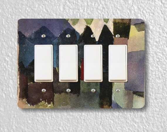 Föhn In Marc's Garden Paul Klee Painting Quadruple Decora Rocker Light Switch Plate Cover