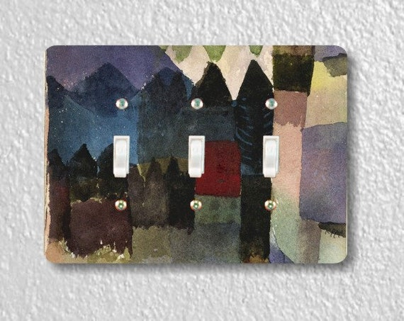 Föhn In Marc's Garden Paul Klee Painting Triple Toggle Light Switch Plate Cover