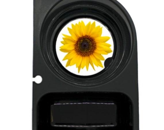 Sunflower Flower Round Sandstone Car Cupholder Coaster