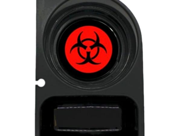 Biohazard Sign Round Sanstone Car Cupholder Coaster
