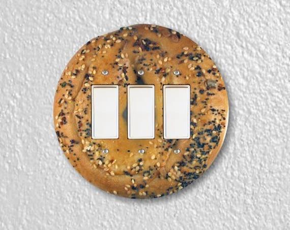 Bagel Round Triple Decora Rocker Switch Plate Cover