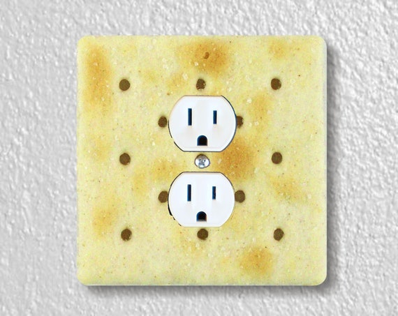 Saltine Cracker Precision Laser Cut Duplex and Grounded Outlet Square Wall Plate Covers