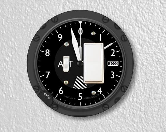 Altimeter Aviation Toggle and Decora Rocker Round Light Switch Plate Cover