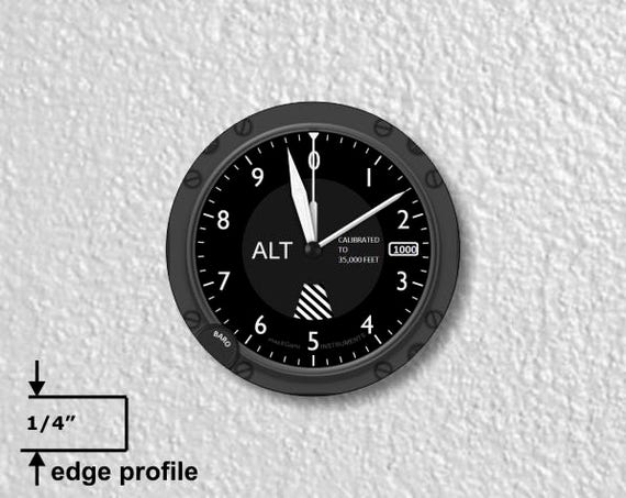Aviation Altimeter Medium Wall Plaque