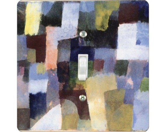Paul Klee Painting Square Single Toggle Light Switch Plate Cover