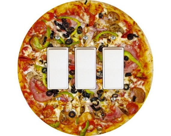 Supreme Pizza Triple Decora Rocker Switch Plate Cover