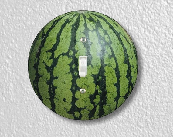 Watermelon Fruit Round Single Toggle Light Switch Plate Cover