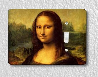 Leonardo Da Vinci Mona Lisa Painting Precision Laser Cut Toggle and Decora Rocker Light Switch Wall Plate Covers