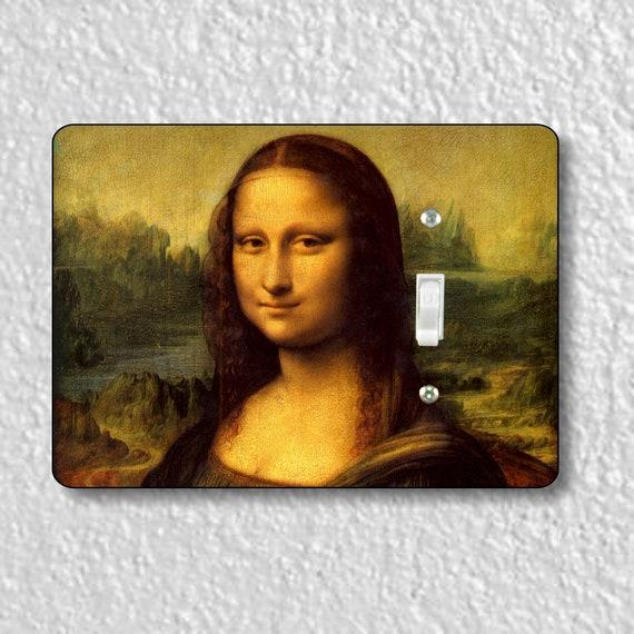 Precision Laser Cut Toggle And Decora Rocker Light Switch Plate Covers - Leonardo Da Vinci Mona Lisa Painting - Home Decor - Wallplates