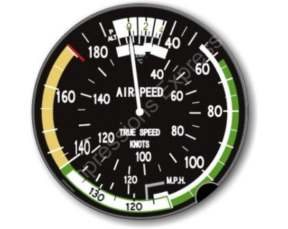 Aviation Airspeed Indicator Round Mousepad