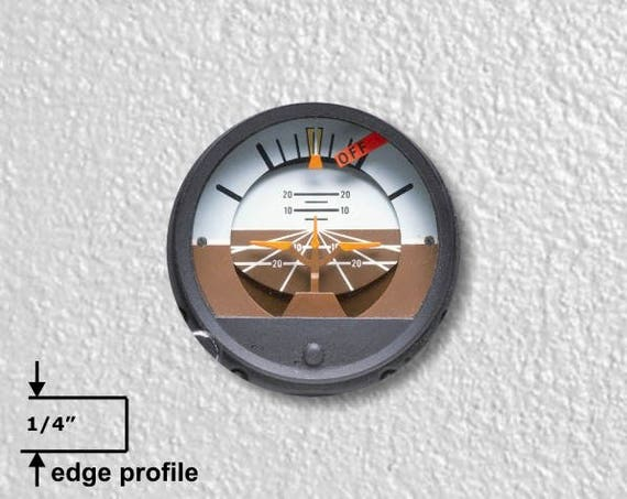 Attitude Indicator Aviation Medium Wall Plaque