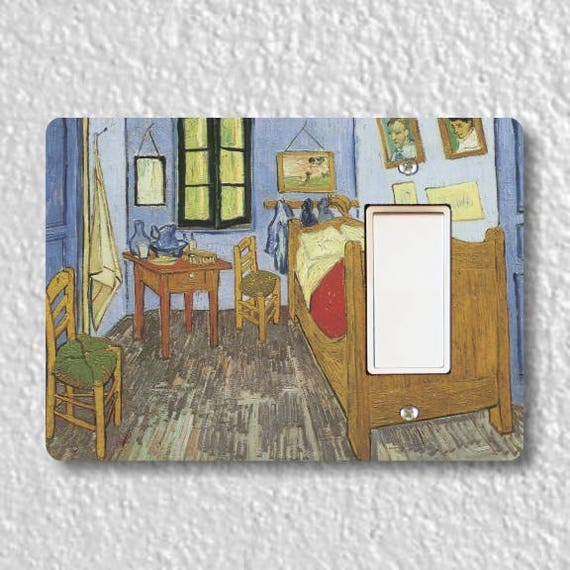 The Bedroom Van Gogh Painting Decora Rocker Light Switch Plate Cover