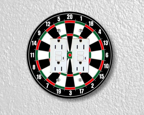 Darts Dartboard Round Double Grounded GFI Outlet Plate Cover