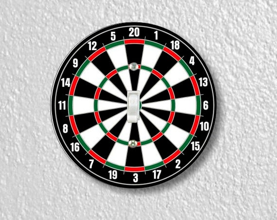 Darts Dartboard Round Single Toggle Switch Plate Cover