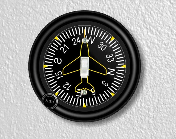 Direction Heading Indicator Aviation Round Single Toggle Switch Plate Cover
