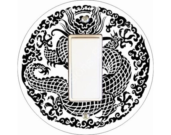 Oriental Dragon Design Decora Rocker Switch Plate Cover