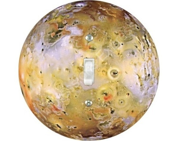 Jupiter Moon Io Space Single Toggle Switch Plate Cover
