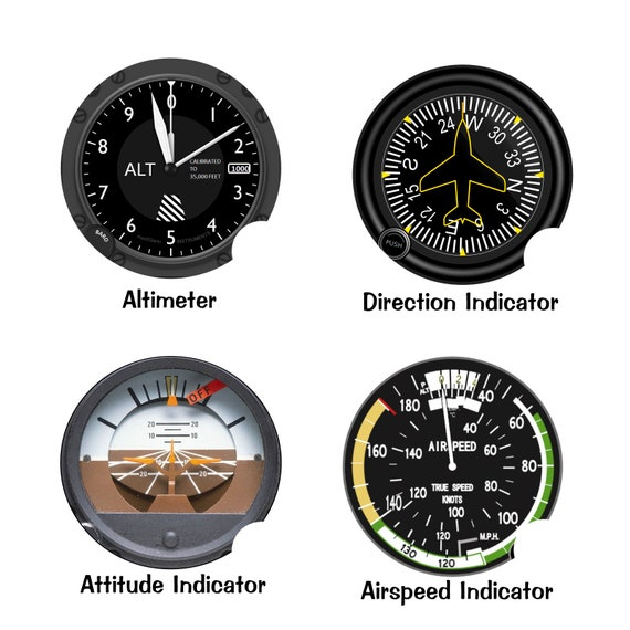 Altimeter Airspeed Attitude Direction Aviation Round Sandstone Car Cupholder Coaster SET OF 2