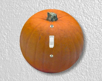 Pumpkin Precision Laser Cut Toggle and Decora Rocker Round Light Switch Wall Plate Covers