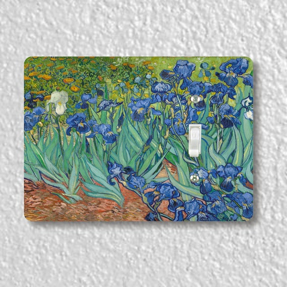 Van Gogh Irises Art Painting Precision Laser Cut Toggle and Decora Rocker Light Switch Wall Plate Covers
