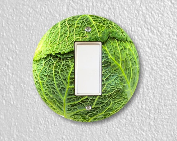 Cabbage Round Decora Rocker Switch Plate Cover