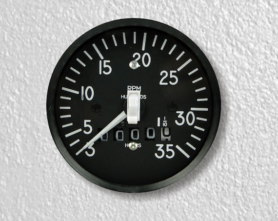 Tachometer Aviation Precision Laser Cut Toggle and Decora Rocker Round Light Switch Wall Plate Covers