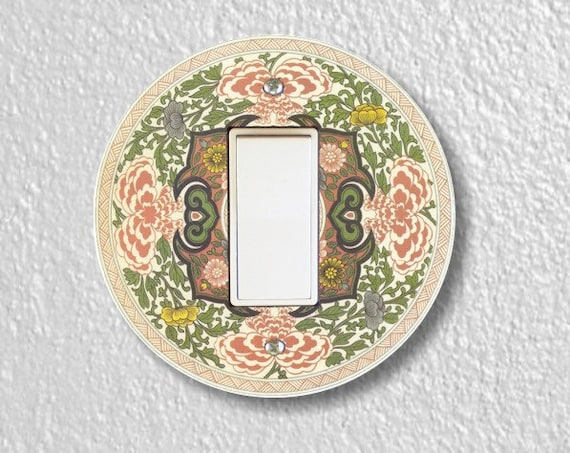 Chinese Ornament Round Decora Rocker Light Switch Plate Cover
