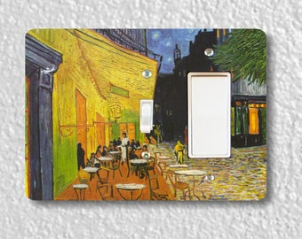 Café Terrace at Night Van Gogh Painting Toggle and Decora Rocker Double Switch Plate Cover