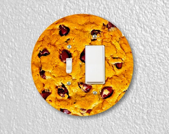 Chocolate Chip Cookie Round Toggle and Decora Rocker Switch Plate Cover