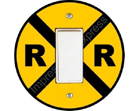 Railroad Crossing Sign Decora Rocker Switch Plate Cover
