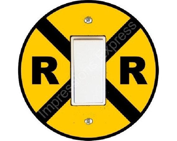 Railroad Crossing Sign Decora Rocker Switch Plate Cover