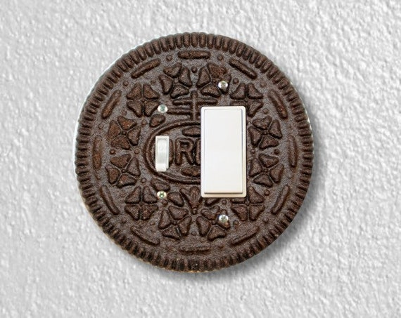Chocolate Sandwich Cookie Round Toggle and Decora Rocker Switch Plate Cover