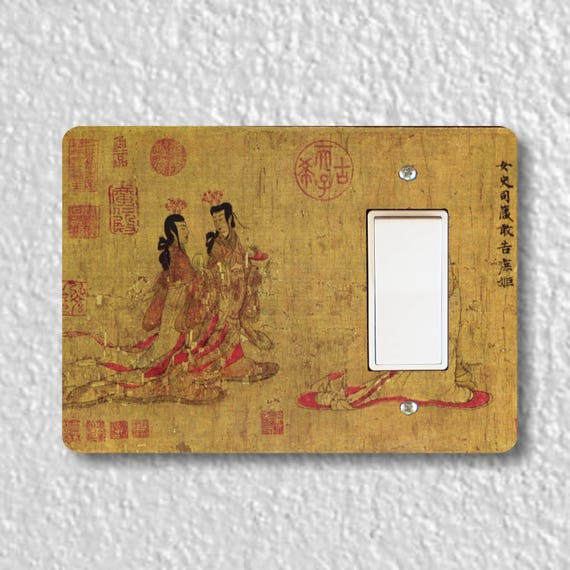 Admonitions Scroll Chinese Painting Decora Rocker Light Switch Plate Cover