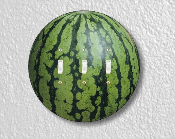 Watermelon Fruit Round Triple Toggle Light Switch Plate Cover