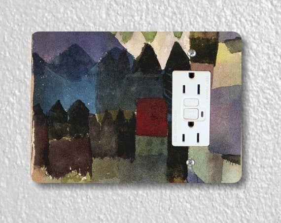 Föhn In Marc's Garden Paul Klee Painting GFI Grounded Outlet Plate Cover