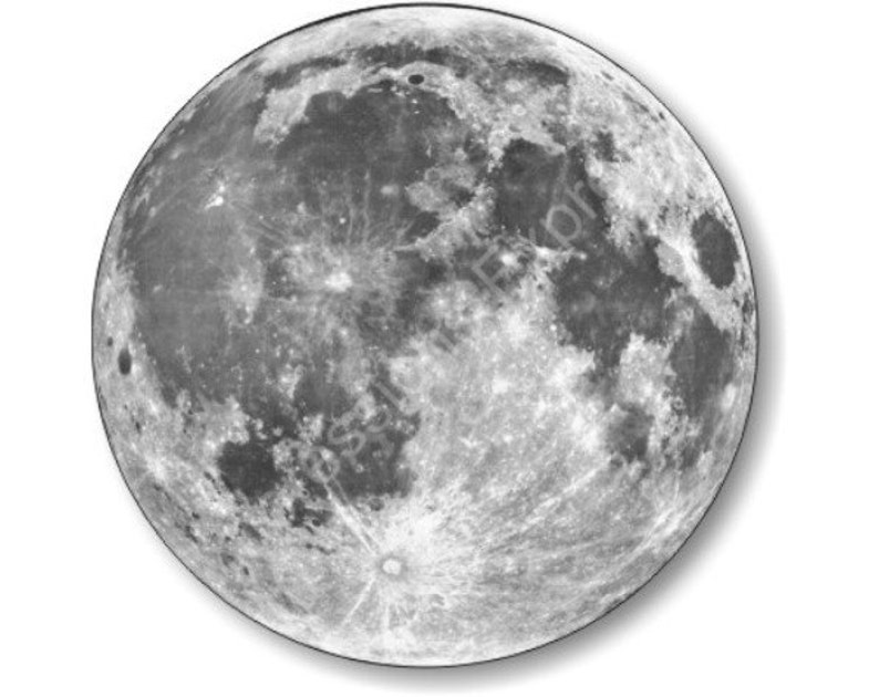 Moon from Space Round Mousepad image 0
