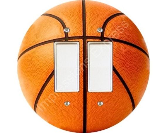 Orange Basketball Decora Double Rocker Switch Plate Cover