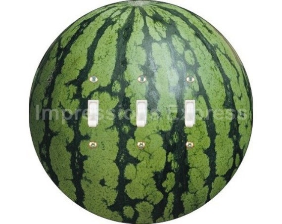 Watermelon Fruit Triple Toggle Switch Plate Cover